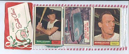 1961 Topps Baseball Unopened Christmas Rack Pack - Mickey Mantle Blasts HR