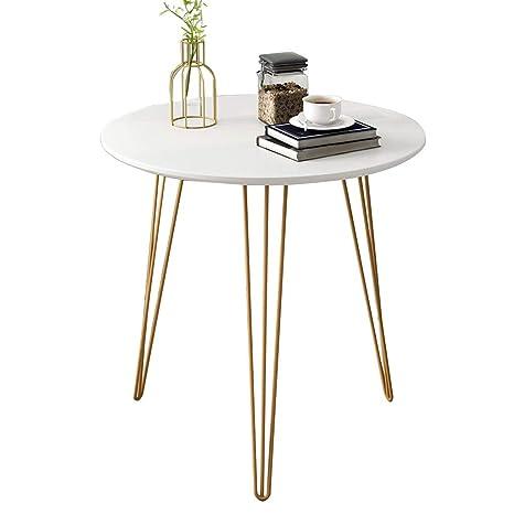 Amazon.com: GXFC mesa auxiliar redonda, resistente mesa de ...