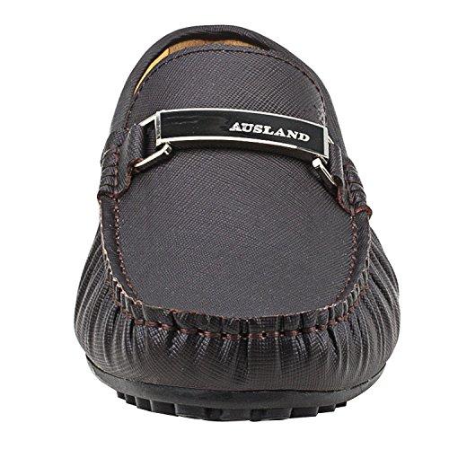 Marrone Liscia Uomo Casual Pelle Uomo D7167 Scarpe Mocassini Loafers di Scarpe Shenduo 4qO1PH