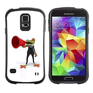 Suave TPU GEL Carcasa Funda Silicona Blando Estuche Caso de protección (para) Samsung Galaxy S5 / CECELL Phone case / / Frog Orator White Minimalist /