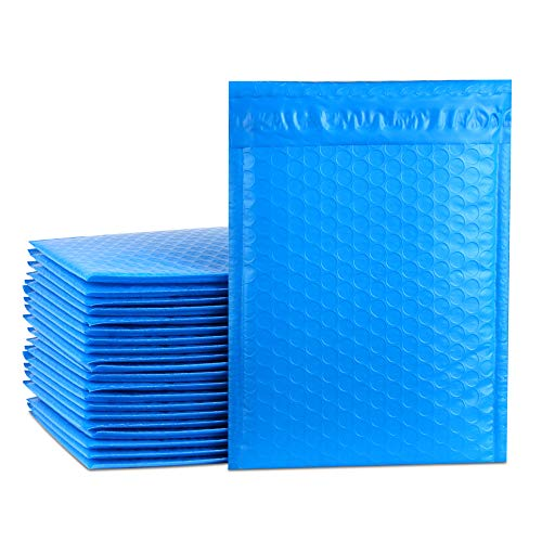 UCGOU 6x10 Inch Blue Poly Bubble Mailers Self Seal Padded Envelopes 25pcs