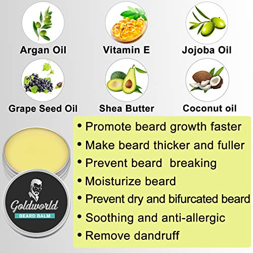 Beard Kit,Beard Growth Kit,Beard Grooming Kit w/Beard Mustache Wax,Beard Growth Oil,Beard Balm,Beard Wash/Shampoo,Brush…