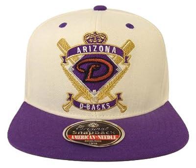 Arizona Diamondbacks Retro AN Crest Snapback Cap Hat 2 Tone