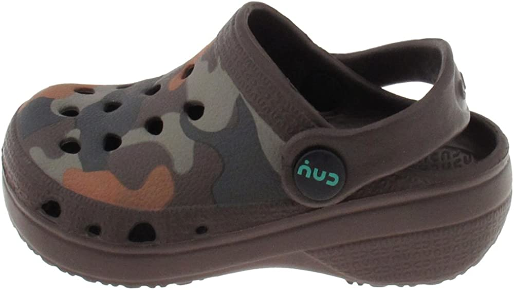Capelli New York Toddler Boys Tie Dye Two Tone Clogs with Backstrap