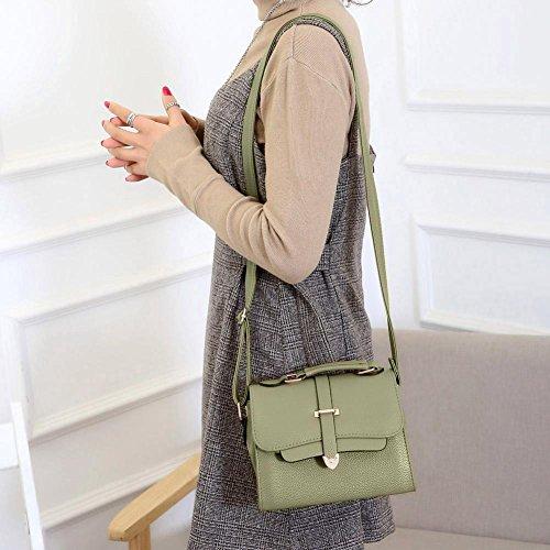 Fille à Femmes Handbags Bag Main en Cabina Top Bandoulière Cuir Vert PU Sac La Sac à Bandoulière Crossbody Petit 7TqwBR