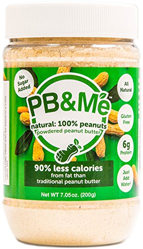 Almond Sugar Free Butter - PB&Me No Added Sugar Powdered Peanut Butter, 7oz