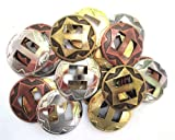 "Conchos Mixed Finishes Western 1"" Round Slotted; 25 Pieces"