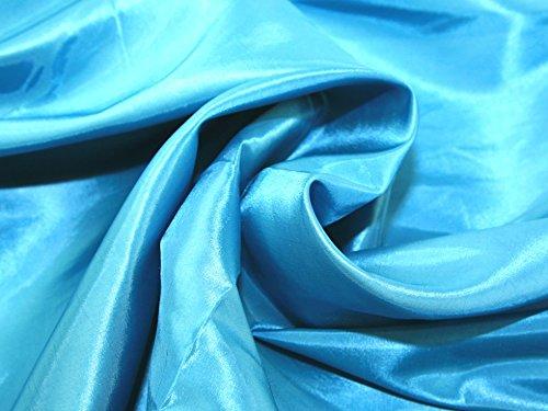 Plain Shot Taffeta Dress Fabric Turquoise - per metre