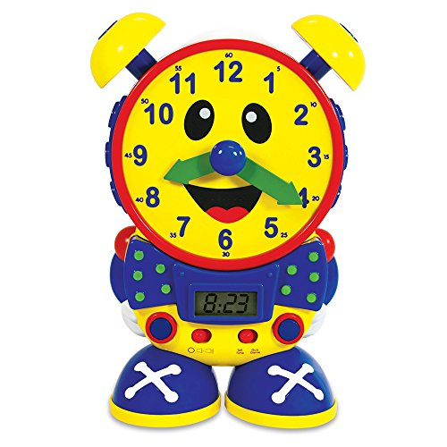 The Learning Journey Telly The Teaching Time Clock, Primary Colors (Hands Clock Teaching)