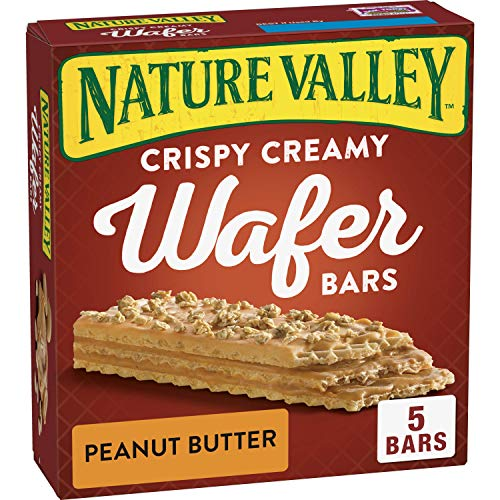 (Nature Valley Crispy Creamy Wafer Bars Peanut Butter, 5 ct, 6.5 oz)