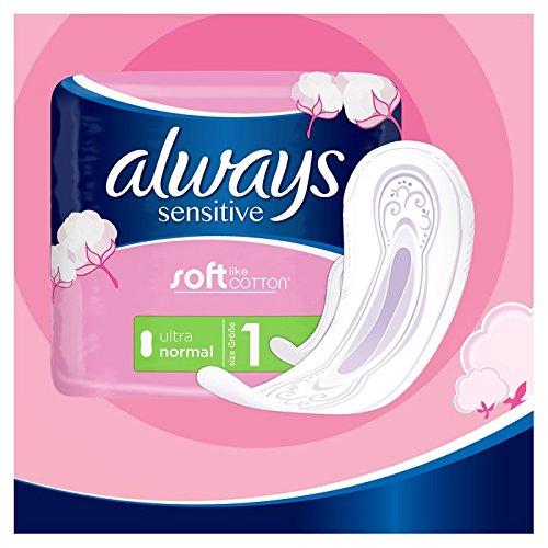 Always Sensitive Toallas sanitarias normal ultra, 28 unidades: Amazon.es: Salud y cuidado personal