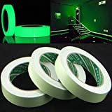 Luminous Self-adhesive Tape Mounting Tape White Warning Tape Fluorescent Home Decor Waterproof Masker for Stairs Wall Glass (White)