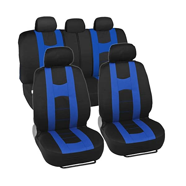 BDK Rome Sport Seat Covers   Sporty Stripes