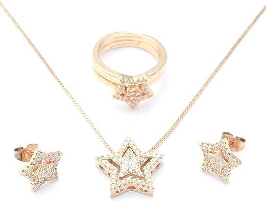 Amazon.com: Arain Women's Jewelry Sets Cubic Zirconia Jewelry Set for Women  with Necklace Pendant Earring Ring Wedding Party Fashion Jewelry: Jewelry