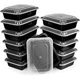 Heim Concept Premium Meal Prep Food Containers with Lids Durable Reusable Top Rack Dishwasher Safe Leak-Resistant Microwavable Compact Stackable Storage Meal Prep To-Go Container Convenience 12-pack (Kitchen)