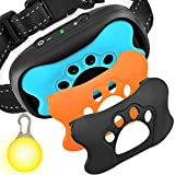 GoPetee Dog Bark Collar, Anti Barking Collar No Bark Control Training Collar with Beeps and Vibration - Safe Waterproof No Shock Stop Barking Collar Device for Small Medium Large Dogs