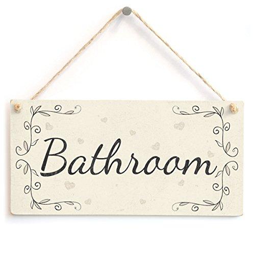 Meijiafei Bathroom - French Type PVC Home Decor Door Sign/Plaque 10