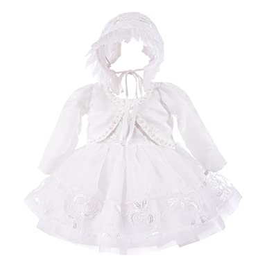 df7b11826 Amazon.com  Xopzsiay Baby Girls Floral Embroidered Christening Gown ...