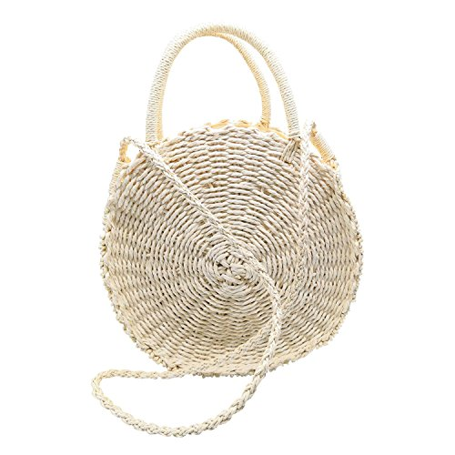 Beauty Yaya Straw Handbags/Round Rattan Bag/Weave Crossbody...
