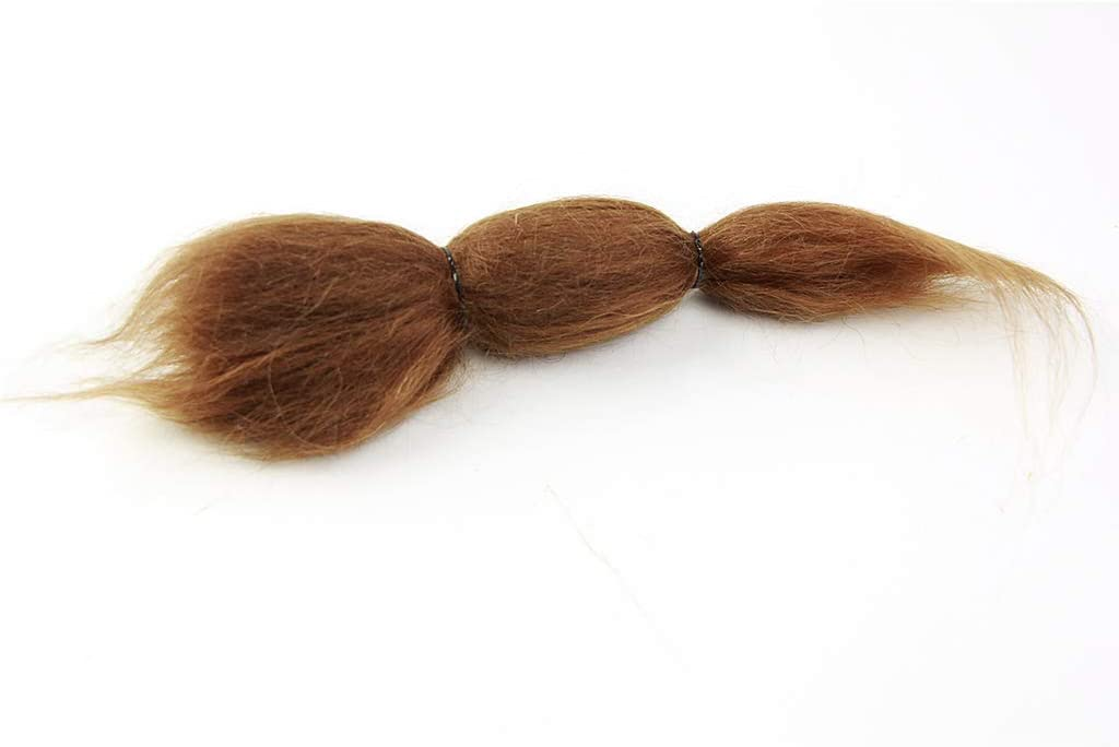 sharprepublic Perruque de Cheveux Brun Pur Mohair pour Poup/ée Reborn Bricolage Ressemble /à de Vrais Cheveux de B/éb/é Fins