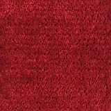 Ottomanson Softy Solid Red Set of 7 Skid Resistant