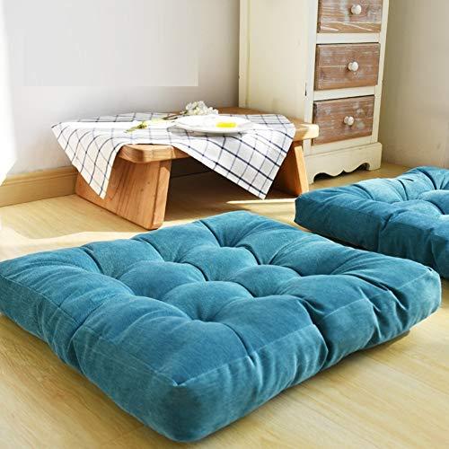 HIGOGOGO Thicken Tufted Cushion, Solid Square Seat Cushion Corduroy Chair  Pad Pillow Seat Soft Tatami Floor Cushion for Yoga Meditation Living Room  ...