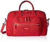 Vera Bradley Women's Iconic Compact Weekender Travel Bag Vera, Cardinal Red