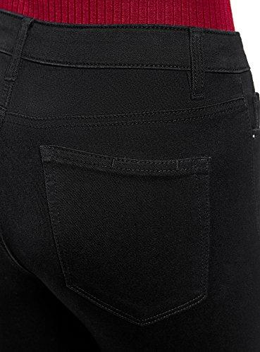 Skinny Mujer Tiro 2900w Negro oodji Ultra Vaqueros Medio de T1UtHw