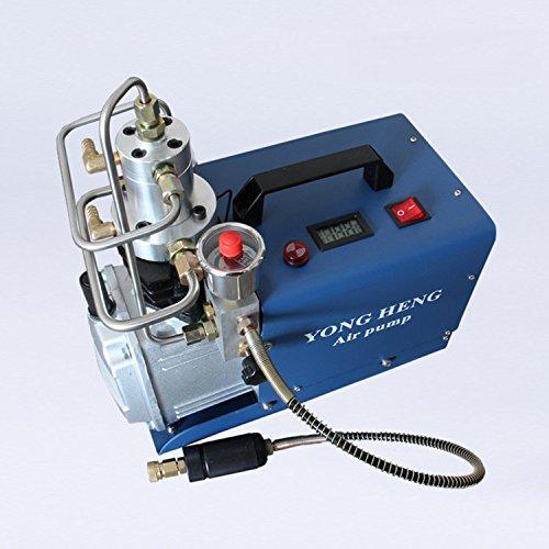 Cooling Compressor (Adjustable Auto-Stop 4500PSI 300 Bar 220V Electric High Pressure PCP Rifle Air Pump Water Cooling Airgun Scuba Air Compressor (YH04SD))