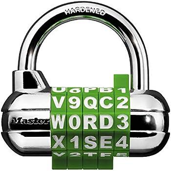 Master Lock 1535DWD Locker Lock Set Your Own Word