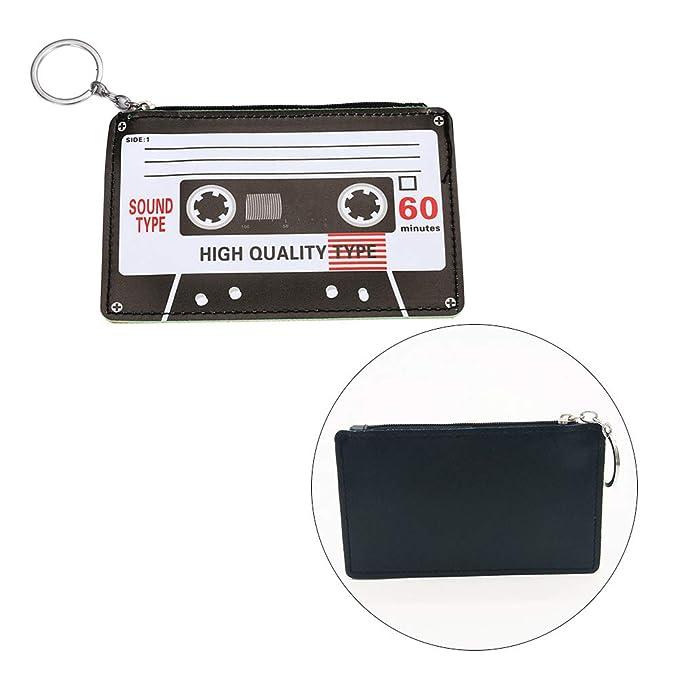 Amazon.com: Healifty 1PC PU Coin Purse Mini Zipper Wallet ...