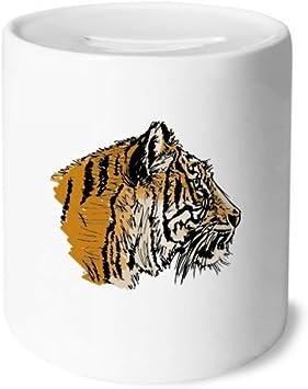 DIYthinker Cabeza del Tigre Primer Plano King Animales Salvajes Caja de Dinero de Cajas de Ahorro de cerámica Caja de la Moneda para niños Adultos: Amazon.es: Juguetes y juegos