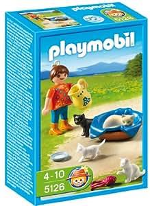 Playmobil - Granja Familia De Gatos C/Niña (5126)