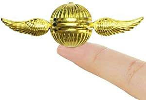 Golden Fidget Hand Spinner for Kids & Adults - Cool Magic Wizardly World Orb Ball Finger Toys Fidgets - Best Gift for Sensory Anxiety ADHD Stress Relief, Quiet Desk Toys for School Home Office