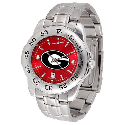 Georgia Bulldogs Sport Steel AnoChrome Men's Watch (Sport Bulldogs Watch)