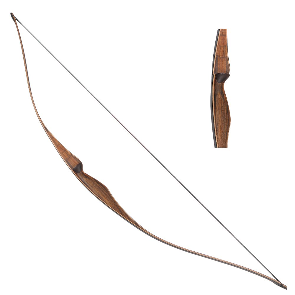 IRQ 20-35lbs 54inch Traditional Recurve Longbow Archery One Piece Laminated Wood Bow for Hunting Shooting Right Hand (25LBS)