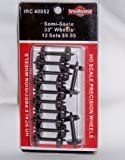"""Intermountain Railway 40052 pack of 12 33"""" SEMI SCALE all brass insulated wheel sets HO Scale"""