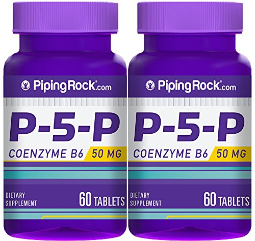 Piping Rock P-5-P Pyridoxal 5-Phosphate Coenzymated Vitamin B-6 50 mg 2 Bottles x 60 Tablets Dietary Supplement