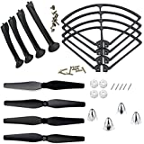 Drone Repair Parts - XiaoPengYo Spare Parts Propeller Blades Protectors Frame & Landing Skids & Blades Cover Compatible for Syma X8 X8C X8W X8G X8HC X8HW X8HG Quadcopter