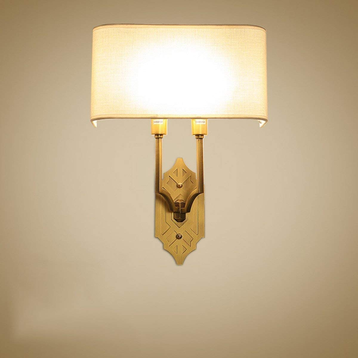 Chuiqingwang アメリカのフル銅ウォールランプの寝室の壁ランプリビングルームの壁ランプベッドサイドの壁ランプE14光源 B07S9CKXPL