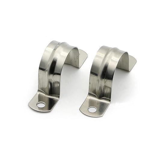 De 20 mm de acero inoxidable 304 abrazadera de tubo Abrazadera de tubo Alicates T de tipo abrazadera de tubo de acoplamiento del aro 20pcs Wholesale