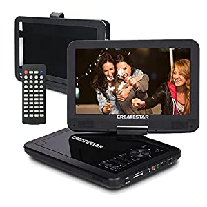 "10.5"" Portable DVD Player for Car and Kids with 270°Large Swivel Screen 