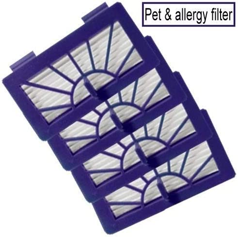 Amazon Com Neato Xv 14 Pet Allergy Vacuum Cleaner Filter Neato Robotic Pet Allergy Filter Replacement For Neato 945 0048 Filter 4 Pack Household Vacuum Filters Upright