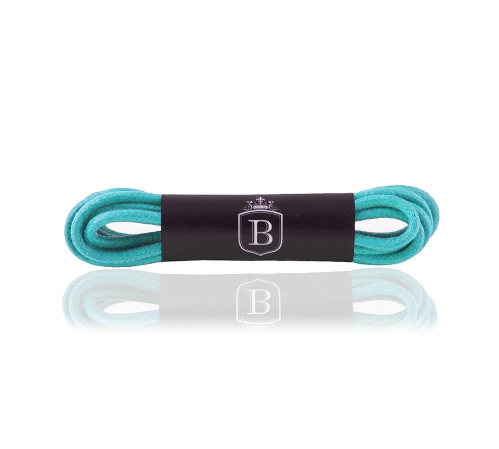1 Paar Premium Schnürsenkel rund gewachst - 25 Farben - 100% Baumwolle - Längen 45-150 cm - Ø 2-mm - Rundsenkel - Schuhbänder - Zufriedenheitsgarantie Brandery