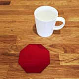 Octagonal Coaster Set - Red Mirror - Set of 8