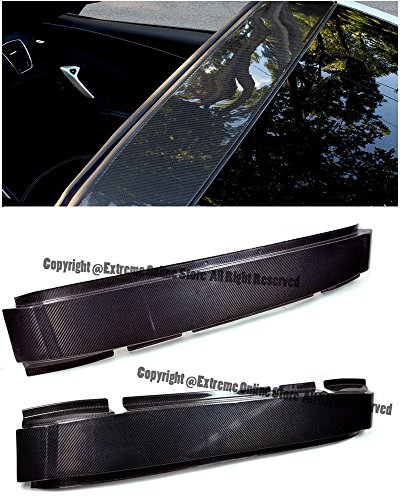 Extreme Online Store EOS Carbon Fiber Top Roof Targa Bar Halo Cover - for Chevrolet Chevy Corvette C7 14-Up 2014 2015 2016 2017 2018