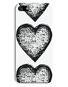 Black Hearts Pattern Case for your iPhone 5/5S
