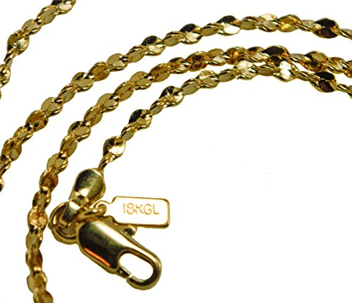 Twisted Serpentine Chain (20 inch Twisted Nugget Serpentine Chain 18k Gold Overlay 2)
