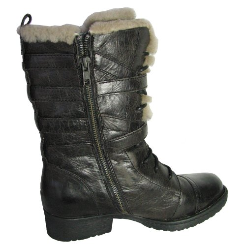 Born Womens Zuniga Motorcyle Boot Dark Grey 2xsRstFxr