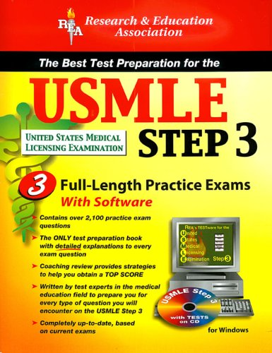 The USMLE Step 3 with CD (REA) - The Best Test Prep for the USMLE Step 3 (Test Preps)